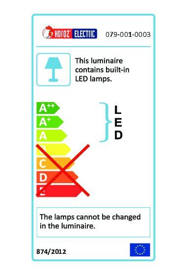 HL 957L ZUMRUT MAT.HROM Ugradna zidna LED svetiljka / 079-001-0003