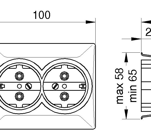 MIKRO 404N Dupla dvopolna priključnica sa bakelitnim jezgrom
