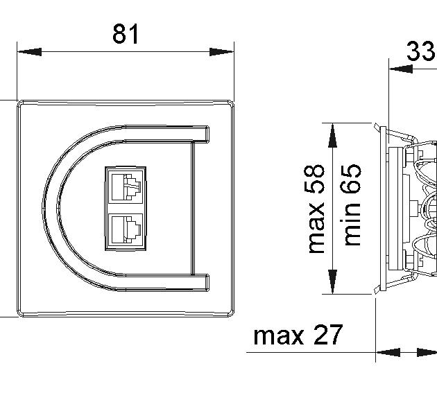 ASTRA 4452 Telefonska priključnica dupla