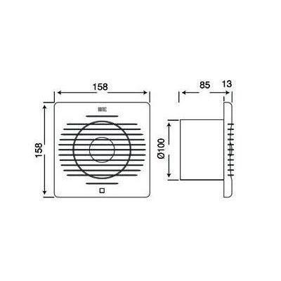 TEB 500.000.100 Aspirator (ventilator) fi 100 12W