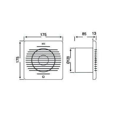 TEB 500.000.120 Aspirator (ventilator) fi 120 15W