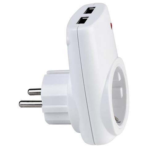 USB adapter HL AXIS (DC 5V, 2.1A) sa šuko priključnicom / 113-001-0001