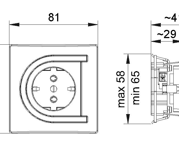 ASTRA 4221 Dvopolna priključnica sa porcelanskim jezgrom