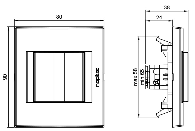 PRIMERA 831111 Jednopolna sklopka