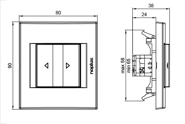 PRIMERA 831811 Sklopka za roletne 1-0-2