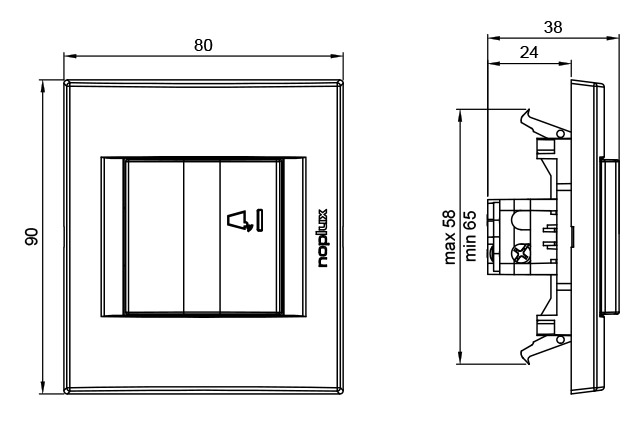 PRIMERA 832511 Taster sklopka za zvono sa indikacijom