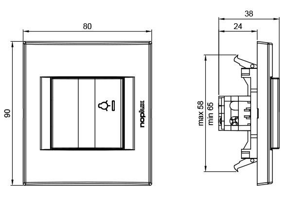PRIMERA 832611 Taster sklopka za svetlo sa indikacijom