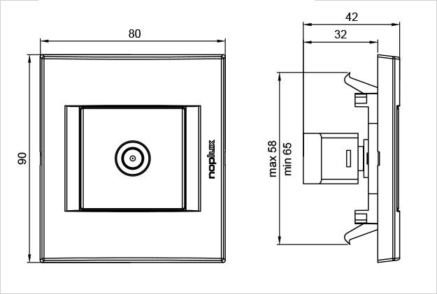 PRIMERA 848311 Koaksijalna priključnica TV individualna PAL/F 0dB