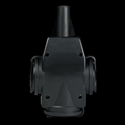 Aling 4036.13 Priključnica prenosna trostruka sa uzemljenjem i gumenom navlakom