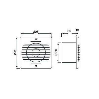 TEB 500.000.150 Aspirator (ventilator) fi 150 20W